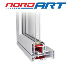 NORDART outward opening windows